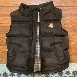 Boys Brown Puffer Vest